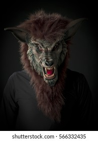 Werewolf scary figure halloween themed image