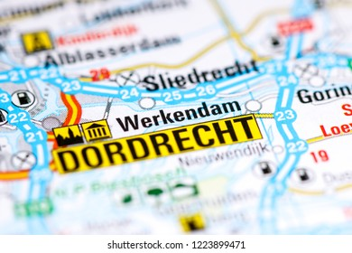 Werkendam. Netherlands on a map