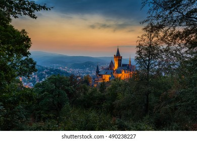 Wernigerode Castle in the Harz mountains, Germany