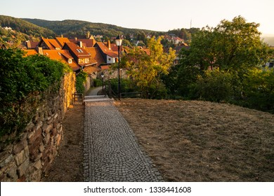 Wernigerode in the evening along the old city wall