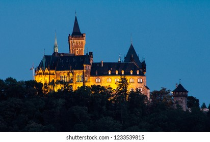 Wernigerode Germany castle at night