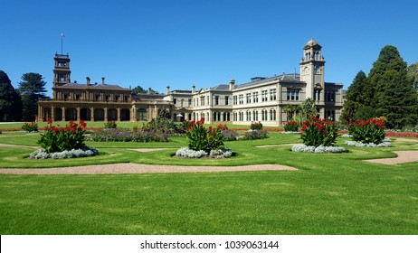 Werribee, Victoria, Australia - March 19, 2017 - Italianate style Werribee Mansion near Melbourne