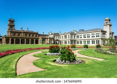 Werribee, Victoria, Australia - March 19, 2017. Exterior view of the Werribee Park Mansion in Victoria, Australia.