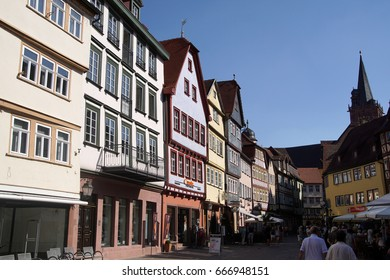 WERTHEIM, GERMANY - SEP 13, 2016 - Main plaza of the small town of  Wertheim, Germany