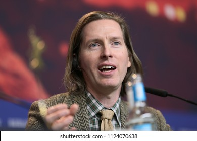 Wes Anderson attends the 'Isle of Dogs' press conference during the 68th Berlinale International Film Festival Berlin at Grand Hyatt Hotel on February 15, 2018 in Berlin, Germany