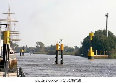 Weser and Lesum unite in Bremen Vegesack