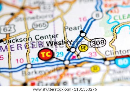 Pennsylvania In Usa Map.Wesley Pennsylvania Usa On Map Stock Photo Edit Now 1131353276