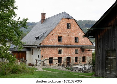 Wesselsky watermill (Vodni mlyn Wesselsky), Odry, Czech Republic / Czechia - building of historical water mill. House and cottage in village, rural area and countryside.  - Shutterstock ID 1831327090
