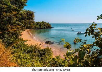 West Africa Guinea Bissau Bijagos Islands - Paradise bay with golden sands