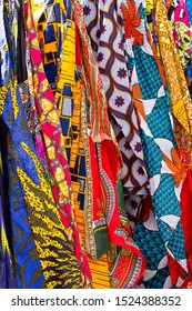 West African apparel for sale at an outdoor market