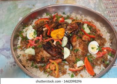 West African food Chicken Yassa called 'Yassa Guinar' in Senegal - Image