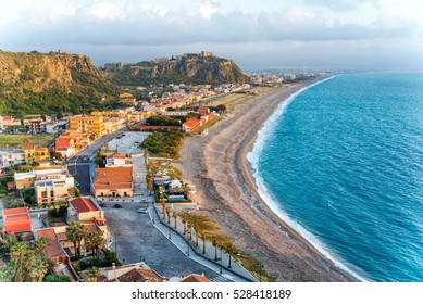 The West beach of Milazzo, Sicily, Italy