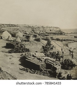 West Beach on Suvla Bay, Gallipoli, after 20,000 British landed during WW1, on August 6, 1915. The Battle of Scimitar Hill followed on Aug. 21, but failed to link with the Anzac sectors to the south.