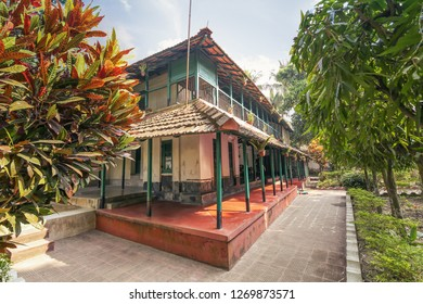 West Bengal, India, December 25,2018: Heritage building and residential house of eminent Bengali novelist Sarat Chandra Chattopadhyay at Deulti West Bengal is a popular tourist attraction.