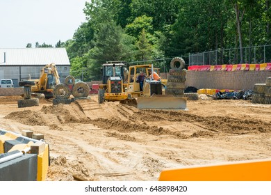WEST BERLIN, NJ - MAY 28: Diggerland USA, the only construction themed adventure park in North America where children and families can operate actual machinery on May 28, 2017