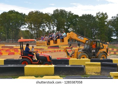 WEST BERLIN, NJ - SEP 22: Diggerland USA, only construction themed adventure park in North America where children and families operate actual machinery, in West Berlin, New Jersey, on Sep 22, 2018.