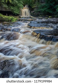 West Burton Falls (also known as Cauldron Falls) in Wensleydale is a popular visitor attraction in the Yorkshire Dales National Park