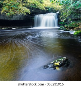 West Burton Falls, Yorkshire Dales National Park in Autumn