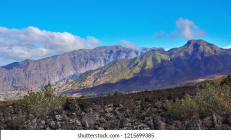 the west coast of the Canary Island La Palma around Los LLanos. Here was the last volcanic eruption one hundred years ago. You can see the lava rocks, the lava flow and the lava fields.