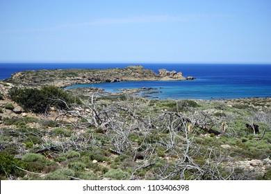 West coast of Crete island near Elafonsi beach, Greece