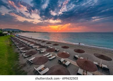 The west coast of Rhodes. Ixia beach