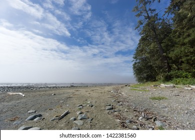 West Coast Trail (WCT) views on Vancouver Island British Columbia a long distance trail along the treacherous shoreline with inclement weather and stunning scenery which is a great outdoor experience