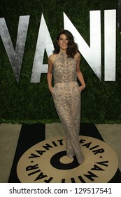 WEST HOLLYWOOD, CA - FEB 24: Marisa Tomei at the Vanity Fair Oscar Party at Sunset Tower on February 24, 2013 in West Hollywood, California