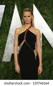 WEST HOLLYWOOD, CA - FEB 24: Karolina Kurkova at the Vanity Fair Oscar Party at Sunset Tower on February 24, 2013 in West Hollywood, California