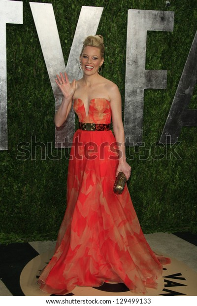 WEST HOLLYWOOD, CA - FEB 24: Elizabeth Banks at the Vanity Fair Oscar Party at Sunset Tower on February 24, 2013 in West Hollywood, California