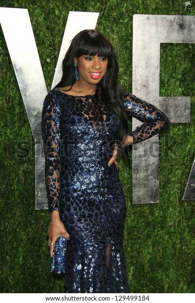 WEST HOLLYWOOD, CA - FEB 24: Jennifer Hudson at the Vanity Fair Oscar Party at Sunset Tower on February 24, 2013 in West Hollywood, California