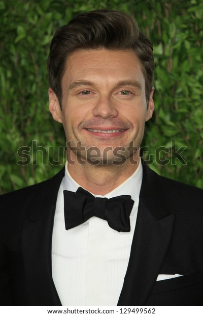 WEST HOLLYWOOD, CA - FEB 24: Ryan Seacrest at the Vanity Fair Oscar Party at Sunset Tower on February 24, 2013 in West Hollywood, California