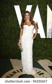 WEST HOLLYWOOD, CA - FEB 26: Sofia Vergara at the Vanity Fair Oscar Party at Sunset Tower on February 26, 2012 in West Hollywood, California.