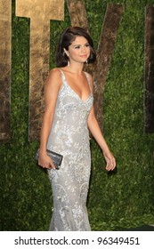 WEST HOLLYWOOD, CA - FEB 26: Selena Gomez at the Vanity Fair Oscar Party at Sunset Tower on February 26, 2012 in West Hollywood, California.
