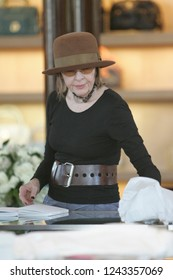 West Hollywood, CA, USA, 03-13-2007 Diane Keaton out shoppping wearing a brown hat and belt.