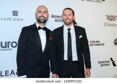 West Hollywood, California / USA - February 24 2019: 27th Annual Elton John AIDS Foundation Academy Awards Viewing Party Celebrating EJAF And The 91st Academy Awards - Arrivals, Taylor Canfield, Mike