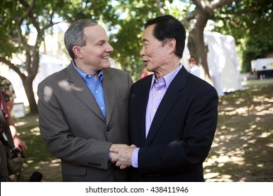 West Hollywood California Usa Jun 17 2008 Actor George Takei And