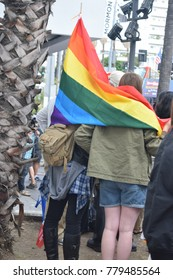 West Hollywood, California, USA June 11th, 2017 : West Hollywood Resist March and LGBTQ Pride Parade on the National Day of Equality