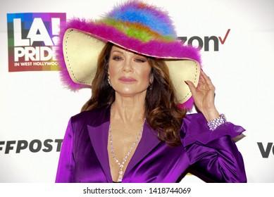 West Hollywood, CA/USA - June 7, 2019: Lisa Vanderpump attends the LA Pride 2019 Opening Ceremony.