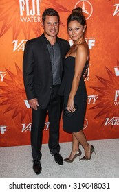 WEST HOLLYWOOD, CA/USA -  SEPTEMBER  18  2015: Nick Lachey and Vanessa Lachey attend the Variety and Women in Film Annual Pre-Emmy Celebration.
