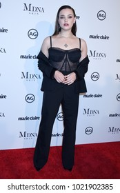 "WEST HOLLYWOOD - JAN 11:  Katherine Langford arrives to the 2018 Marie Claire ""Image Makers Awards""  on January 11, 2018 in West Hollywood, CA"