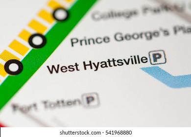 West Hyattsville Station. Washington DC Metro map.