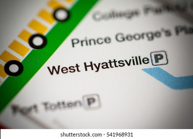 West Hyattsville Station. Washington DC Metro map.