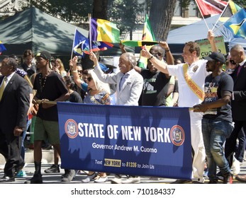 West Indian Day Parade(Labor Day)with political leaders like Al Sharpton, Andrew Cuomo walking down Eastern parkway Brooklyn, New York on September 4, 2017.