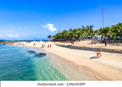 West Island, Sanya, Hainan, China - January 5th, 2018: West Island is an Island lying off the Western Edge of Sanya Bay, Combing Local Fishing Villages and Resort Facilities, Popular for Day Trips