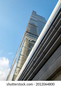 West Kowloon, Hong Kong SAR - June 7, 2021 : W Hong Kong, a five-star hotel in Kowloon Station, West Kowloon.