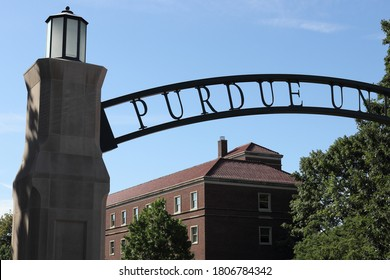 West Lafayette - Circa August 2020: Purdue University Gateway to the Future Arch, which symbolizes the future for Purdue students and graduates.