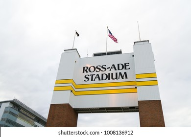WEST LAFAYETTE, IN/USA - OCTOBER 22, 2017: Ross-Ade Stadium on the campus of the Purdue University.