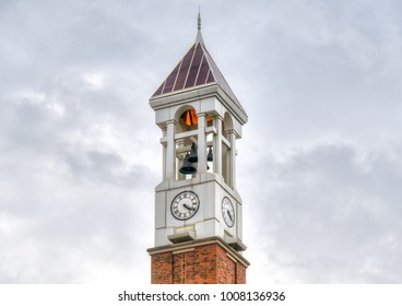 WEST LAFAYETTE, IN/USA - OCTOBER 22, 2017: Purdue Bell Tower on the campus of the Purdue University.
