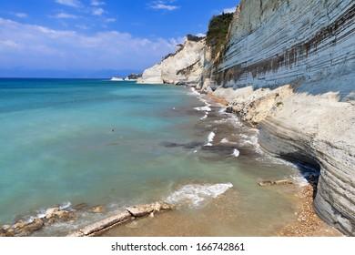 West north coast at Corfu island in Greece