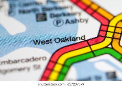 West Oakland Station. San Francisco Metro map.